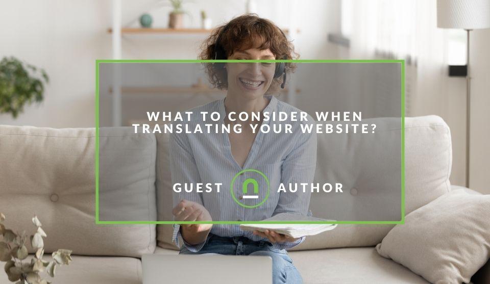 Translating website considerations