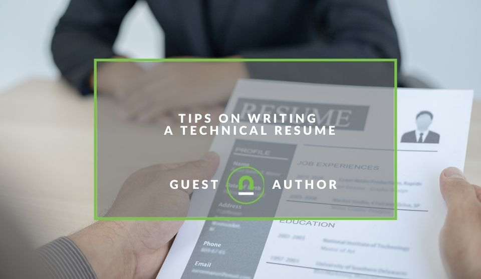 Guide to writing technical resume