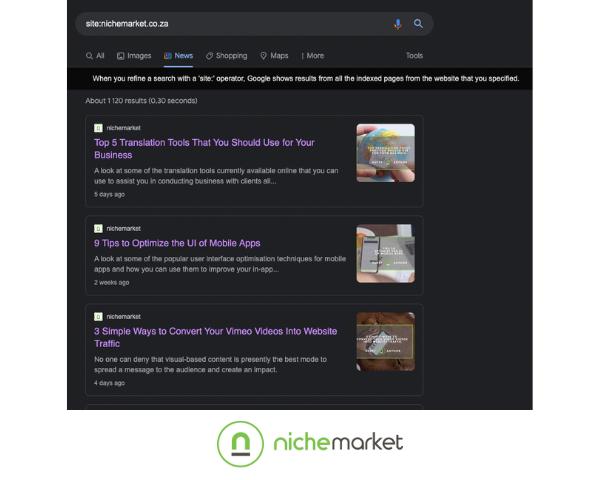 Google News listings
