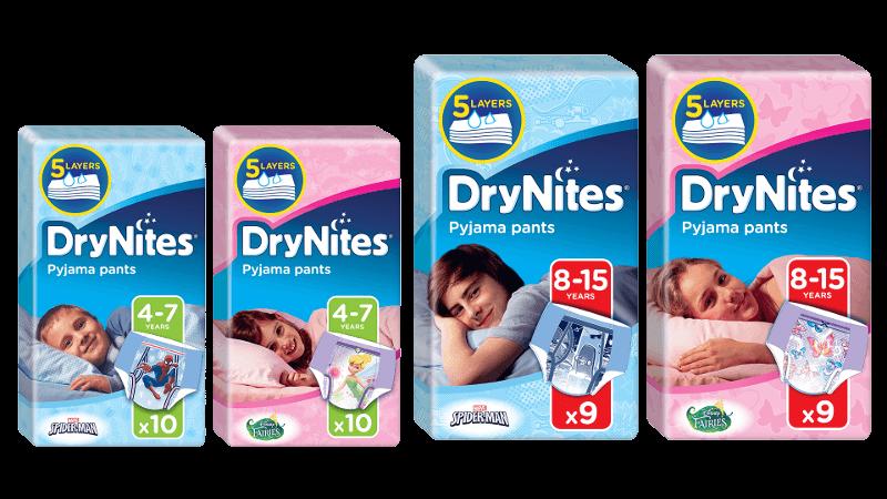 Drynites nappy pants samples