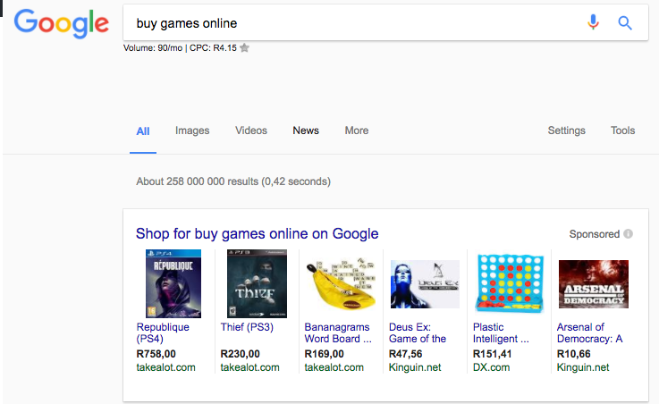 Google Shopping ads come to South Africa