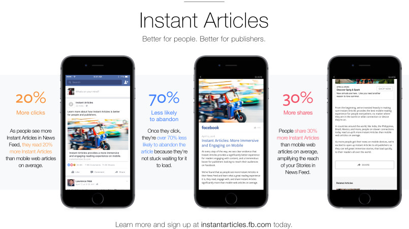 Running Facebook Instant Articles