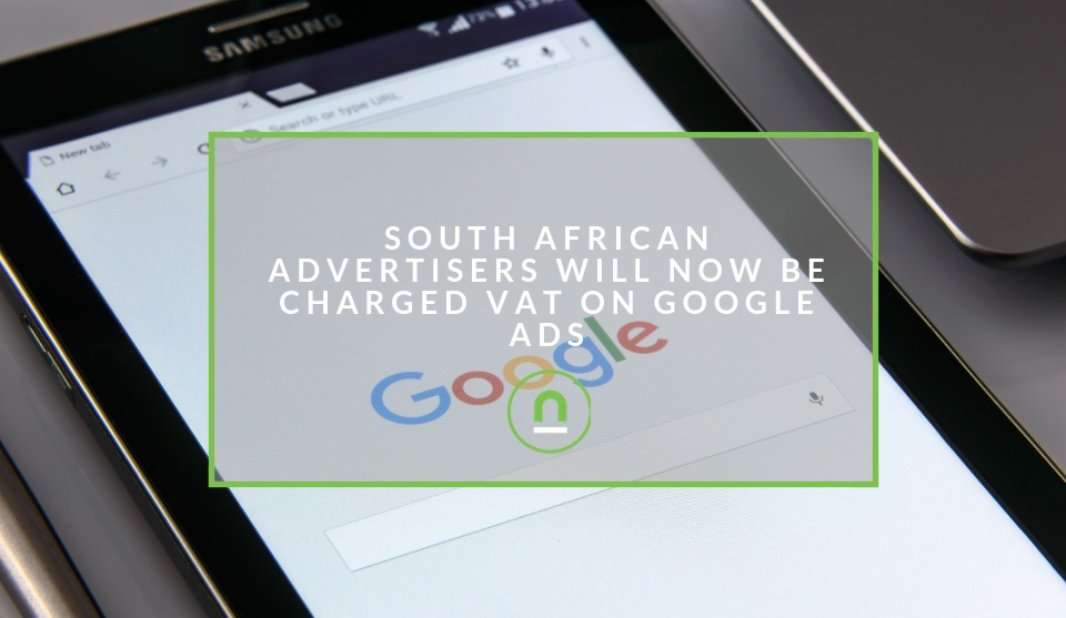 South African Google Ads Charged VAT