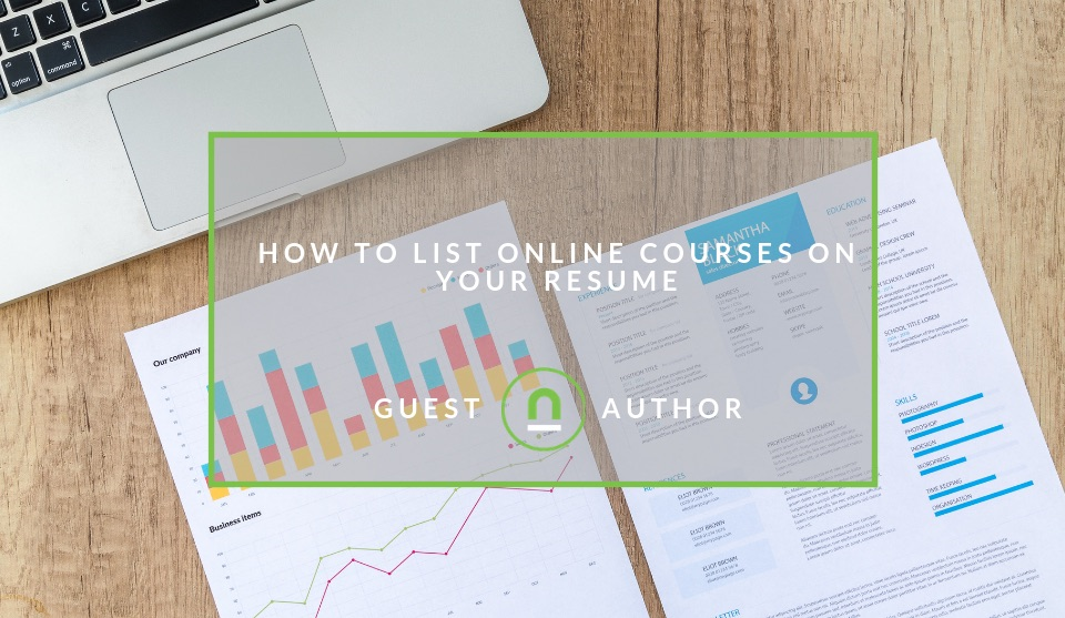 Listing online courses on your resume