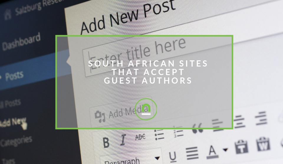 South African sites accepting guest contributions