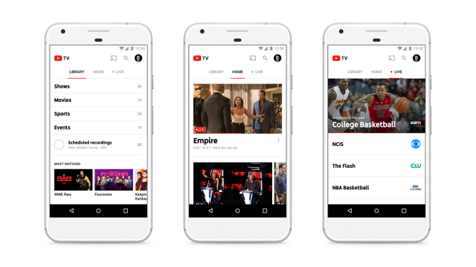 YouTube Launches Live TV Steaming