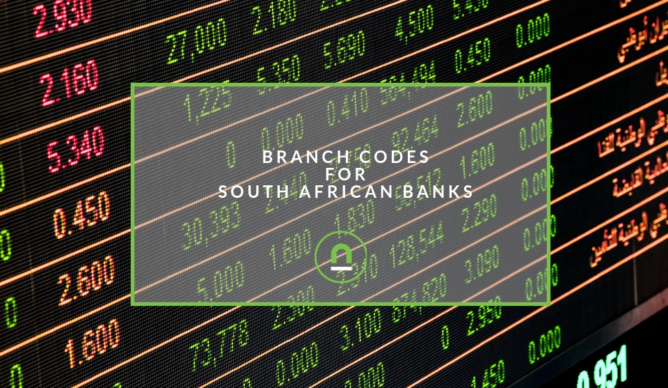 Branch Codes For South African Banks