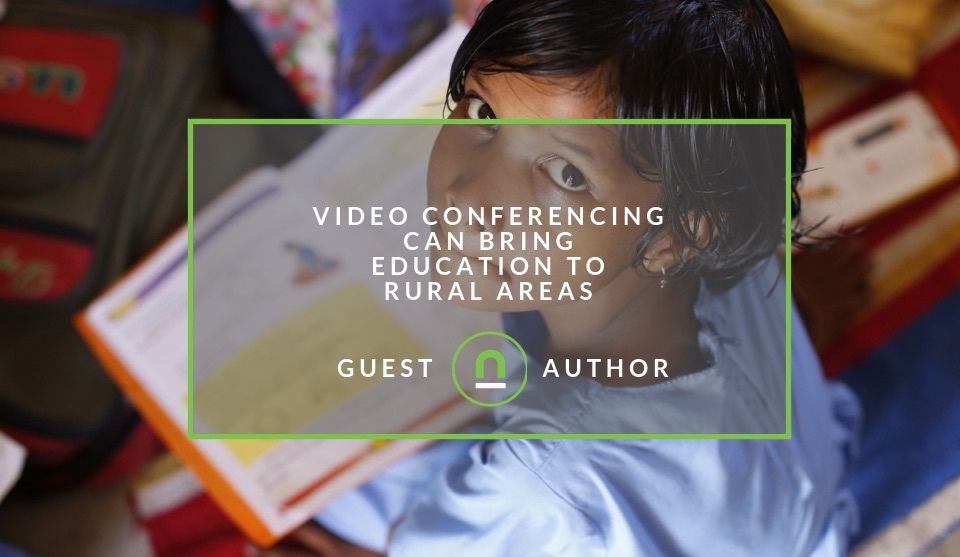 Educational video conferencing in rural areas
