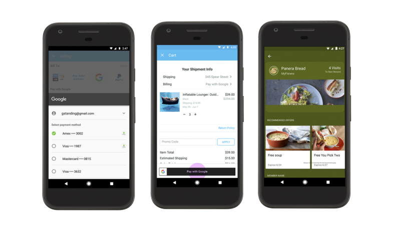 User friendly Google Pay Wallets
