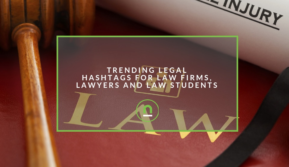 Popular legal hashtags