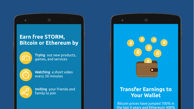 Earn cryptocurrency with Storm Play
