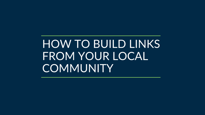 How to build local links from your community