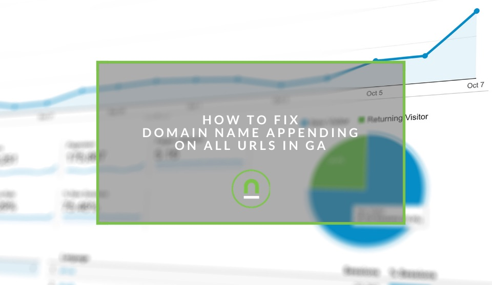 Stop Google Analytics Appending the domain name to every URL
