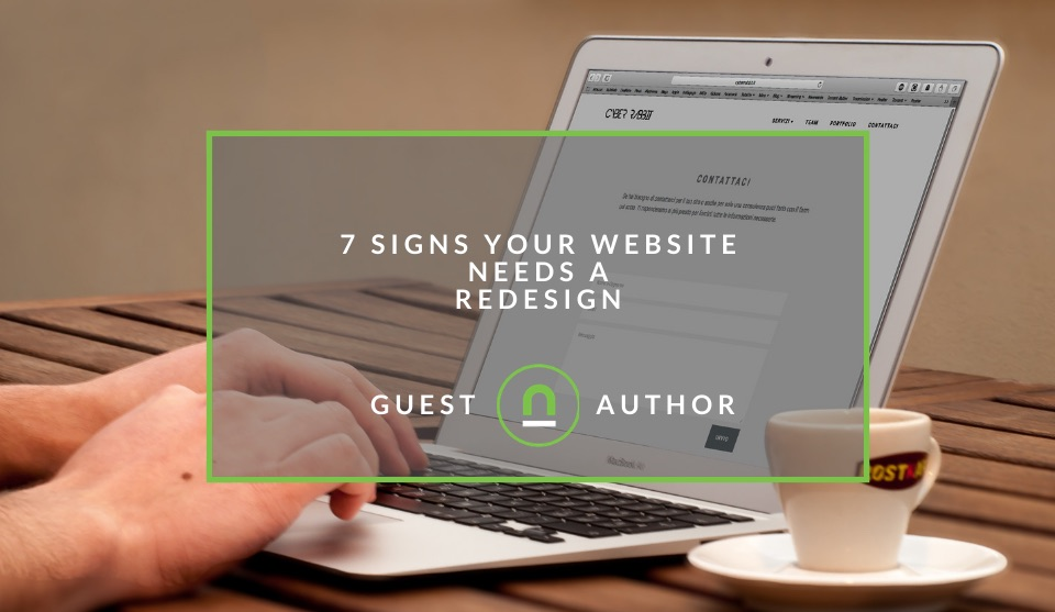 Signs you should redesign your site