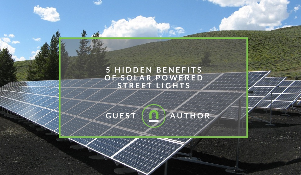 Public solar powered lighting benefits