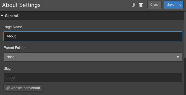 Setting Webflow URL