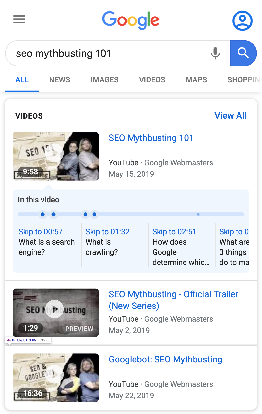 Video key moments marked up