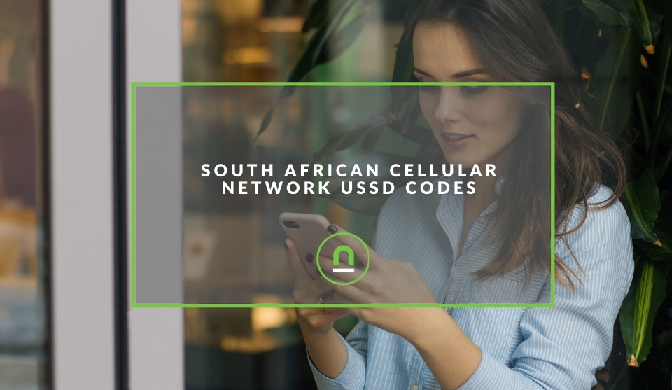 South African cellular network USSD codes