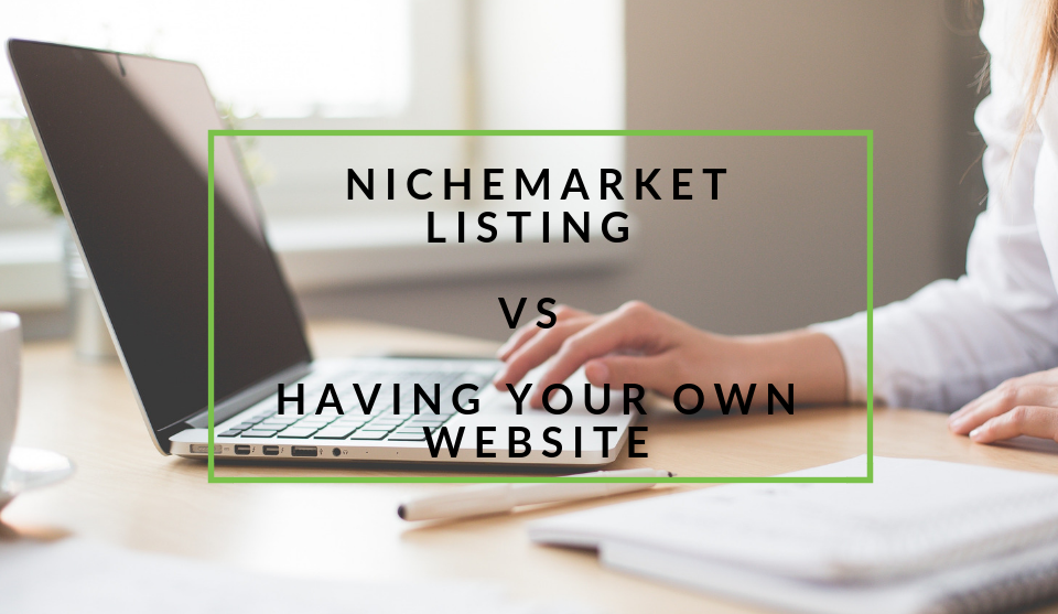 nichemarket listing vs having a website