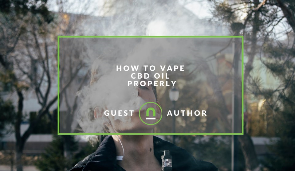 How to vape CBD oil