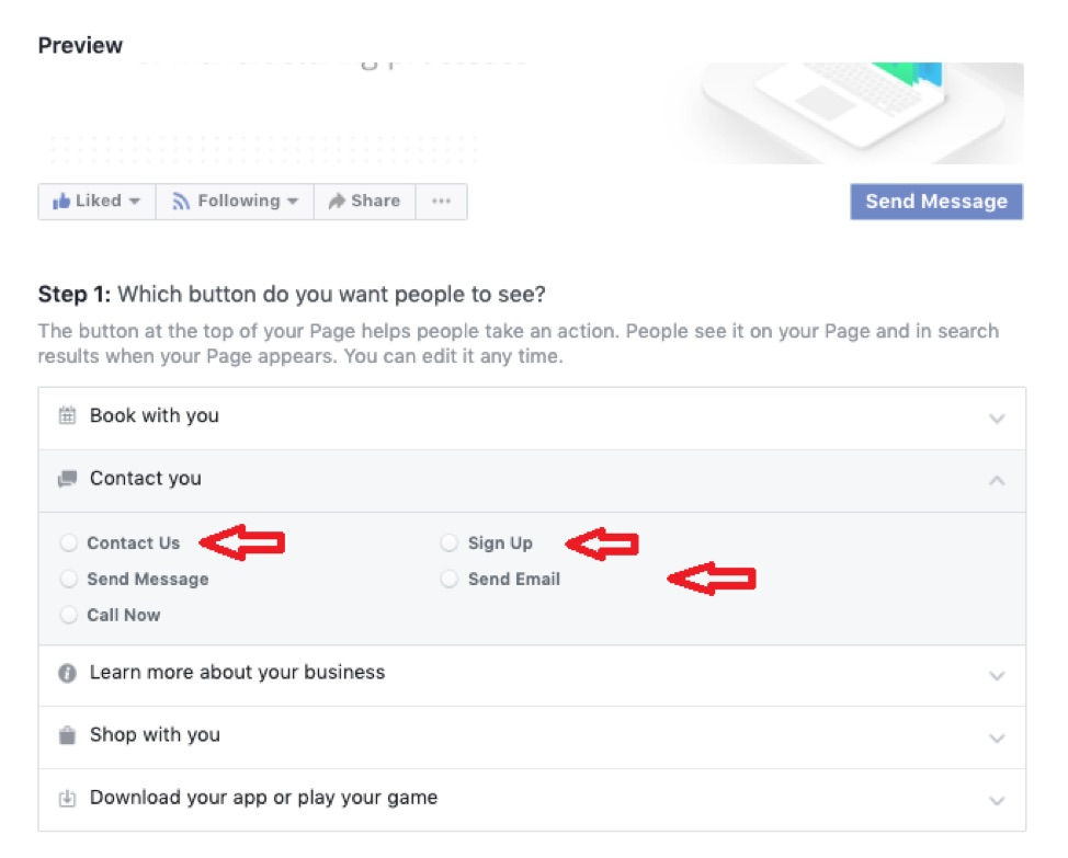 Setting up email prompt on Facebook