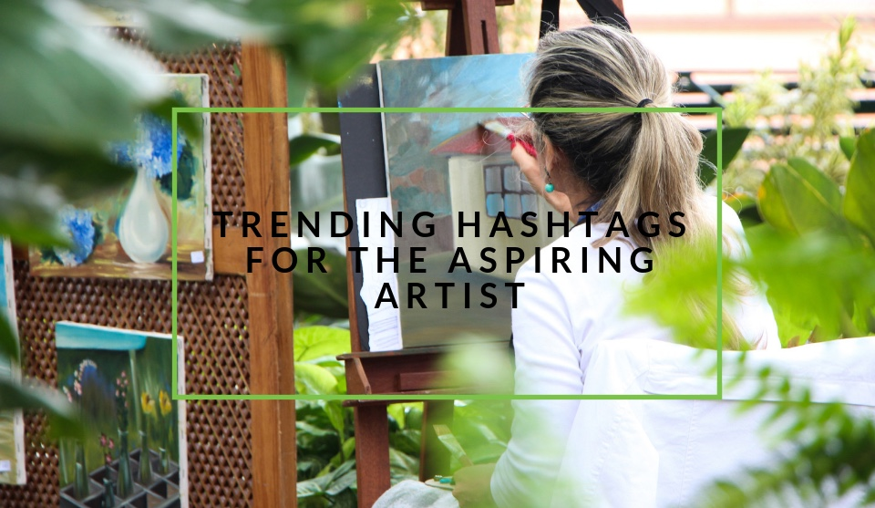 Trending hashtags for artists