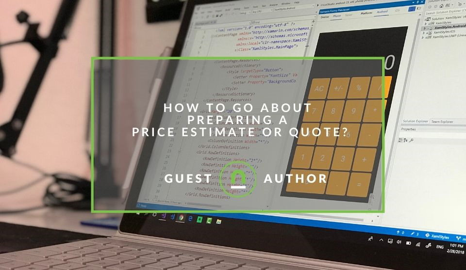 Quote or estimate preparing tips