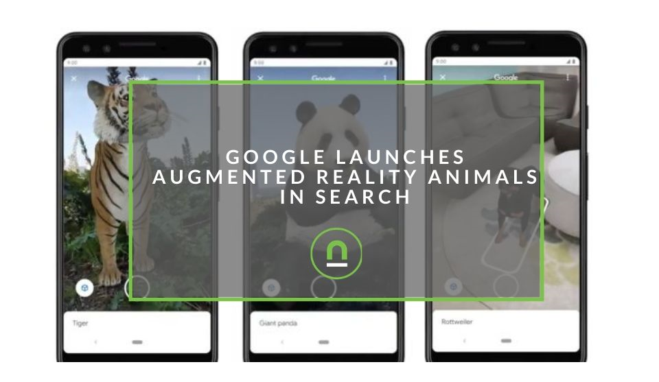 Augmented reality animals in Google Serach
