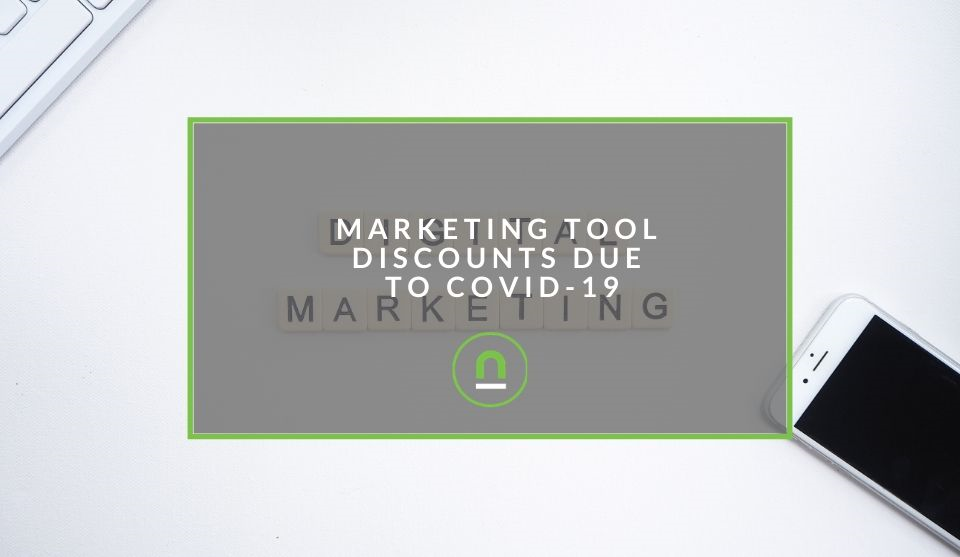 Marketing tech tool discounts due to coronavirus