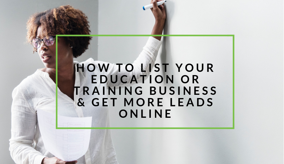 List your education or training business on nichemarket