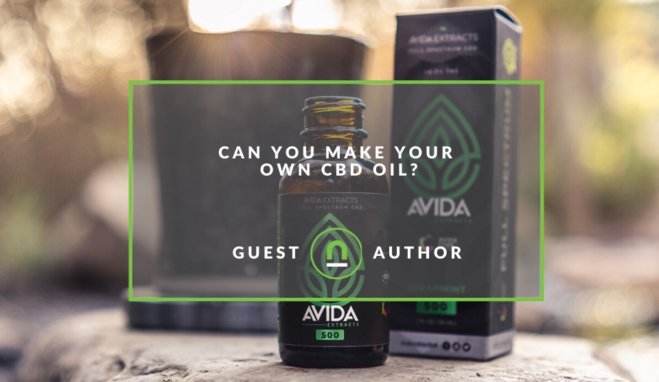 Making homemade CBD oil
