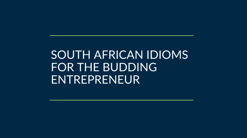 South African idioms