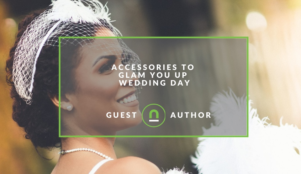 Wedding day accessories for a bridge
