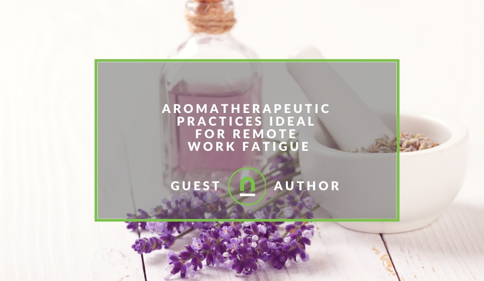 Remote working aromatherapy benefits