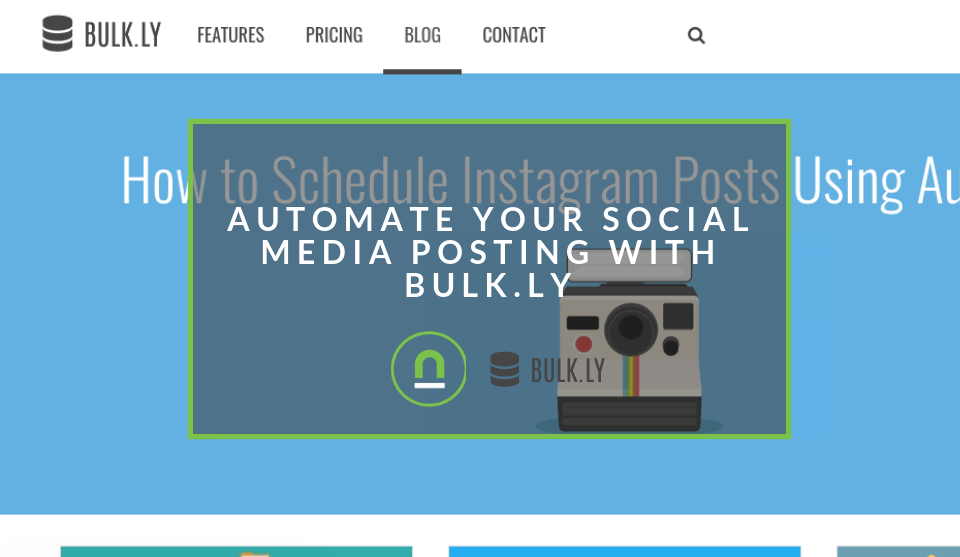 Automate social media posts with bulk.ly