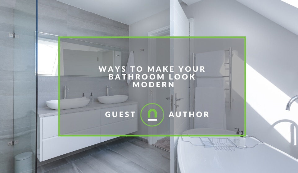 Give bathroom a modern look