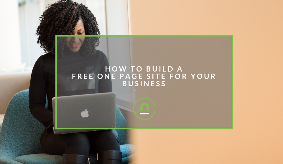 Build a free one page website for your business