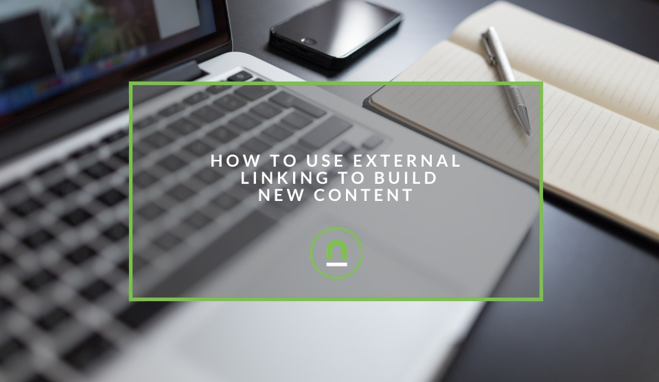 Build content strategy with external links