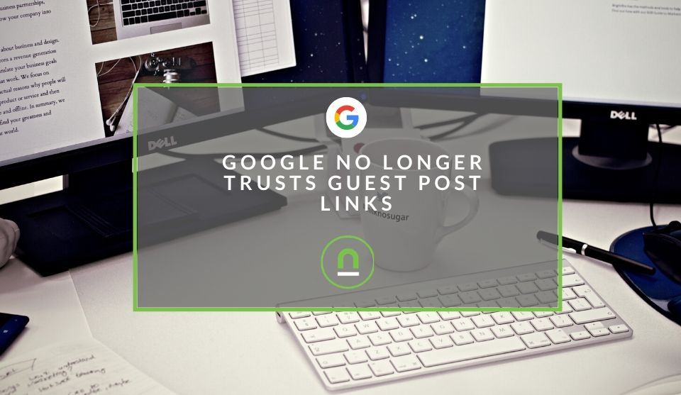 Google demotes guest post links