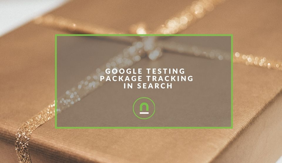 Google package delivery search
