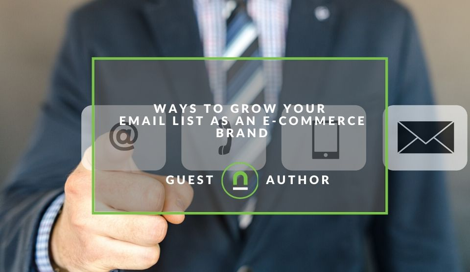 Tips for growing ecommerce site email list