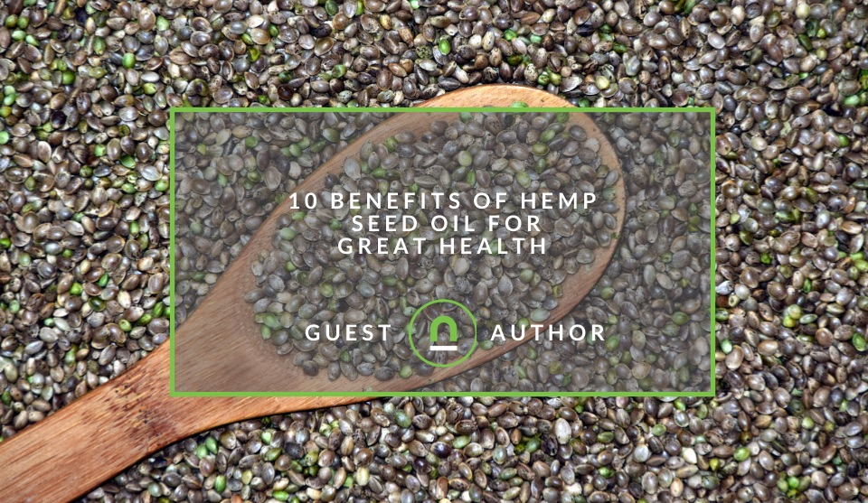 Hemp seed oil health improvements