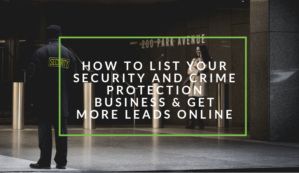 List your safety and security business on nichemarket