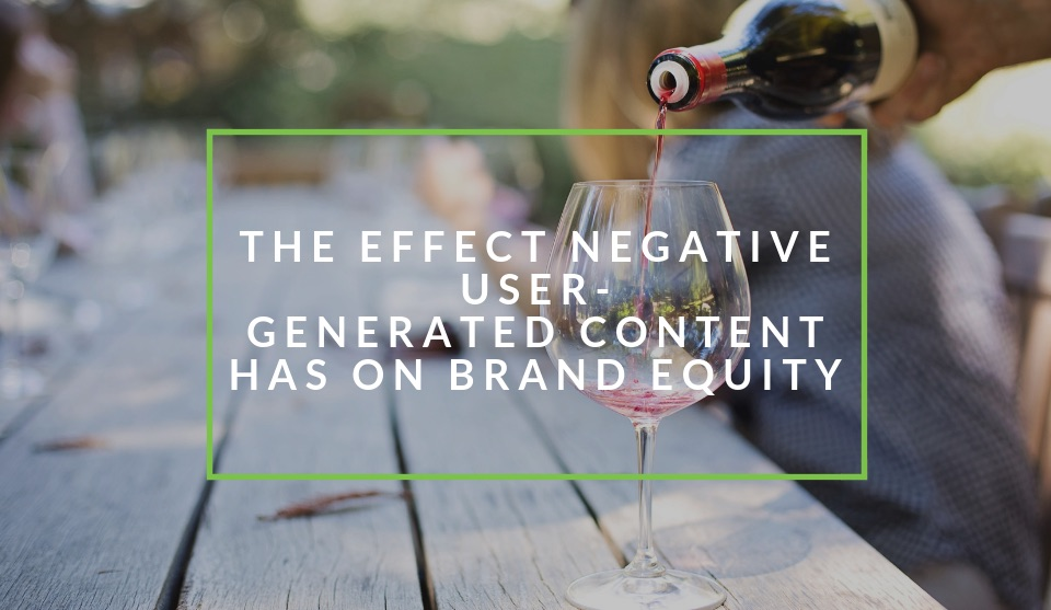 The effect negative user generated content has on brand equity