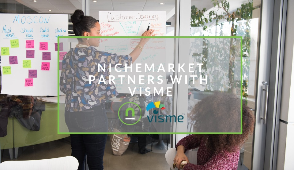 nichemarket and visme partner