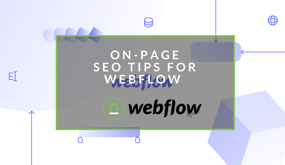 how to do on-page SEO on webflow