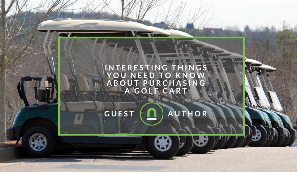 Purchasing a golf cart