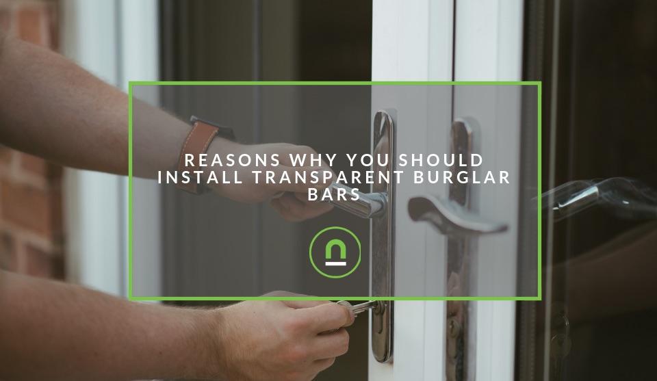 Why install transparent burglar bars