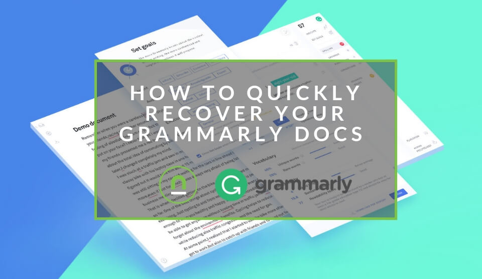 Recover Your Grammarly Docs In Secponds