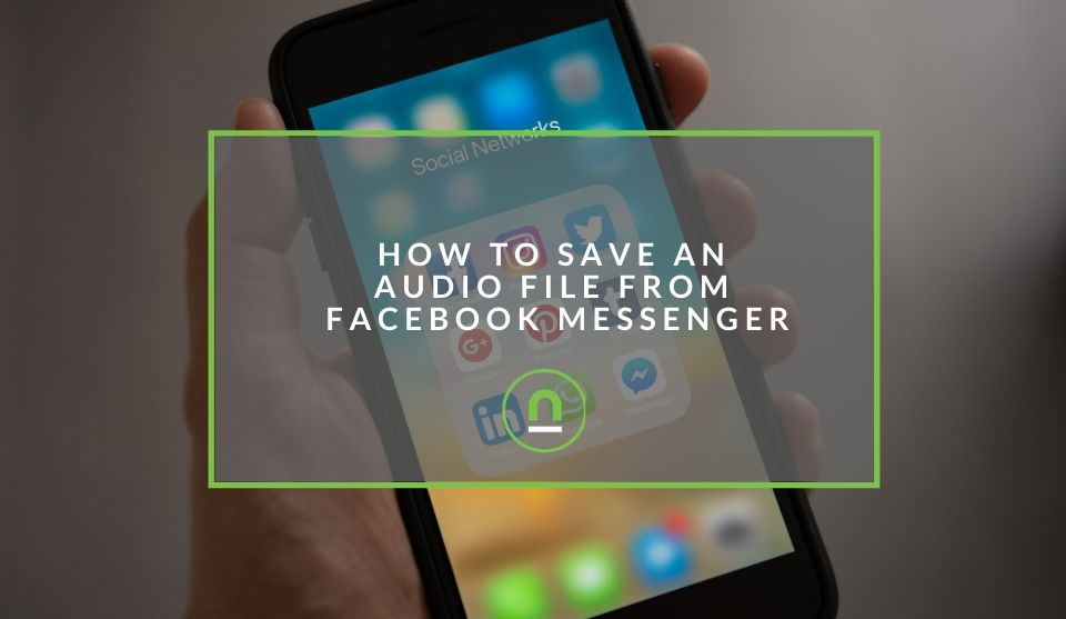 audio file saving in Facebook Messenger